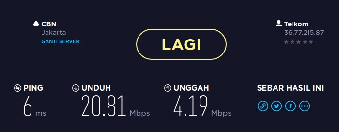 Indihome 20 mbps